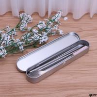 انخفاض Shipwholesale الفضة القصدير مقلمة القلم تخزين مربع القرطاسية منظم مدرسة مكتب استخدام APR28