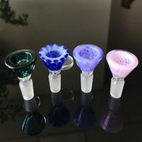 Heady Glasschalen 14mm Male Farbige Trichter Bowl Stück Trockenkräutertabakrauchzubehör für Glas Wasser Bongs Wasserpfeifen Shisha