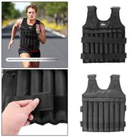 20 / 50kg Max carico regolabile Weighted Vest Fitness Training Exercise Gilet Caricamento Weighted Vest regolabile Peso Boxing