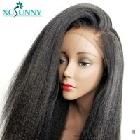 Yaki Düz 13X6 Dantel Açık Peruk Tutkalsız Brezilyalı Remy İnsan Saç Peruk Öncesi Mızraplı Doğal Siyah Renk İçin Kadınlar Xcsunny