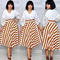 4size (L XL XXL XXXL) 2019 africana vestidos para las mujeres / señora Imprimir maxi del vestido de Dashiki de la rodilla-longitud de la falda dressAfricaine Femmel