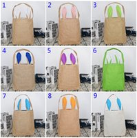 2019 New Easter Rabbit ear Basket Easter Bunny Bags Rabbit P...