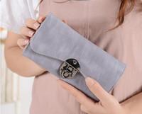 2018 محفظة جديدة الإناث طويلة الأجل ثلاثة محفظة محفظة الأزياء النسخة الكورية طالب قفل متعدد الوظائف المرأة المحفظة حقيبة يد W713