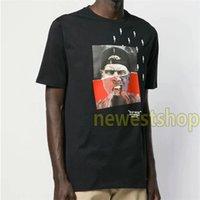 2021 새로운 여름 고품질 망 기하학 인쇄 T 셔츠 망 디자이너 티셔츠 Camisetas Mens 사진 인쇄 T 셔츠 Unsex 코튼 티
