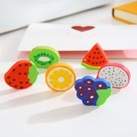 Borrador regalo de fruta de la serie de dibujos animados Borrador creativo fresa sandía lápiz del borrador paquete de 2 Cauchos