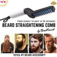 Многофункциональная расческа щетка для борода выпрямитель для волос выпрямить выпрямление гребенью волос Curler Quick Styled для мужчин
