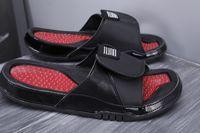 الأزياء 11 شي النعال الصنادل هيدرو الحادي عشر 11 ثانية الشرائح الأسود شحن مجاني الرجال أحذية كرة السلة الاحذية في حذاء حجم 36-45 5.5-13