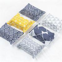 Scatole di fazzoletti di carta adesiva magica Sacchetto di asciugamani in carta di cotone e lino Originalità Opp Imballaggio Scatole di tovaglioli Popolare riutilizzabile 1 9bj J1