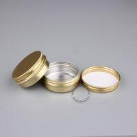 50 teile / los 30g Goldene Aluminium Glas Zinn, 1 unze Leere Kosmetische Behälter Für Hautpflegecreme Parfüm Balsam, Metall Lagerung Topf Box