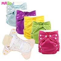 MABOJ pañal de tela de bolsillo Pañales Un tamaño del bebé pañales lavables pañales reutilizables impermeables para 6 a 33 libras bebés