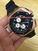 8 스타일 핫 판매 고품질 42mm 해외 26401RO.OO.A002CA.01 고무 스트랩 밴드 VK 쿼츠 크로노 그래프 Workin 시계 시계