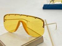La lentille Big Fashion 0667S Designer Sunglasses Connected Taille demi-cadre avec petits rivets 0667 Lunettes de soleil masque Goggle populaire Top Qualité