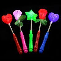 LED blinkende Licht up stifte glühende rose stern herz magische zauberstäbe partynacht aktivitäten konzert farnivals stapel geburtstagsgeschenk c5963