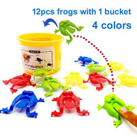 Frog Hoppers Game multi player Toys 12pcs Jumping Leap frogs...