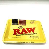 18 * 12.5cm 미니 롤링 RAW 트레이 담배 저장 플레이트 수용 디스크 연기 롤링 허브 담배 분쇄기 물 파이프 유리 봉에 대한