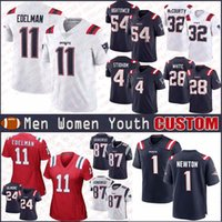 1 Cam Newton 11 Julian Edelman Custom Men Women Kids New England