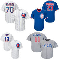9 Baez 11 Darvish 12 Schwarber 13 Bote 17 Bryant 23 Sandberg 44 Rizzo 70 Maddon Chicago Mens Cubs Blue Cool Jersey