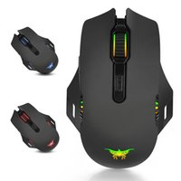 W200 Breathing Light 6000 DPI 6-Key Optical Gaming Mouse professionale cablato retroilluminato ed ergonomico