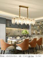 Lâmpada de cristal moderna lustre canadense folha de bordo para sala de estar Luxo ouro redondo de aço inoxidável candelabros de cadeia de iluminação 110-240V