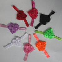 20 adet 7 cm Şifon Rozetler Kızlar için Kalp Kafa Çiçekler Saç Aksesuarları, Saç Zanaat Malzemeleri, Kızlar Saç Yaylar, Bebek Kalp Bandı