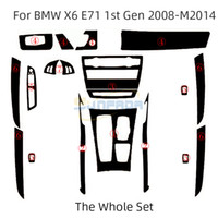 3D 4D 5D ألياف الكربون الألياف الفينيل صائق ملصقات ل bmw x5 e70 08-13 x6 e71 08-14 سيارة الديكور الداخلي / ترقية / حماية