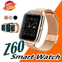 Bluetooth Smart Watch Phone Z60 Stainless Steel Support SIM TF Card Camera Fitness Tracker GT08 DZ09 Smartwatch for IOS Android N-BS
