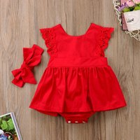 Newborn Baby Girl Lace Princess Romper Dress Flower Dress Cl...