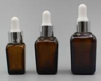 금색 은색 검은 색 흰색 모자 전자 액체 향수 병 뜨거운 판매와 vape 황색 10ml의의 20 ㎖의 30ML 유리 사각 dropper 병