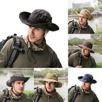 Yeni Moda Erkekler Kadınlar Balıkçılık Avcılık Güneş Şapka Kova Boonie Rahat Balıkçı Şapka