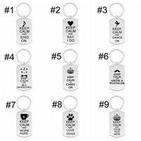 مصمم كيرينغ المفاتيح الحفاظ على الهدوء وتحمل الإبداعية الفولاذ المقاوم للصدأ حلقة المفاتيح مجوهرات للرجال والنساء اكسسوارات رائعة هدايا