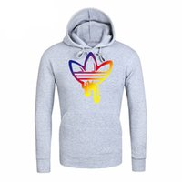 Mens Branded Hoodie Light Fleece Sweatshirts Colorful Patter...