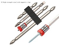 Haute qualité S2 forte anneau magnétique lot tête combinaison vent lot perceuse électrique magnétique tournevis cruciforme Forets bits qui
