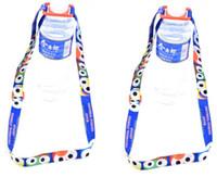 Botellas de bebidas Lanyard Botella de agua Hebillas Correas Dibujos animados Senderismo Portátil Viaje al aire libre Caldera Cuerda para colgar Drinkware Mango