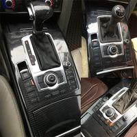 For Audi A6 C6 2005-2011 Kendinden yapışkanlı Araba Etiketler 3D 5D Karbon Elyaf Vinil Araç çıkartmaları ve Çıkartmaları Araç Şekillendirici Aksesuarları