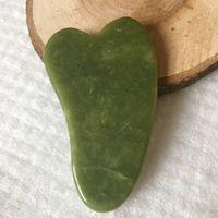 Natural Jade Massage Werkzeug Guasha Board Gua Sha Gesichtsbehandlung Natural Jade Stone Scraping Care Gesundes Werkzeug