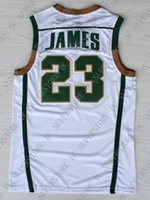 Cheap wholesale Lebron James 23 St Vincent St Mary Irish High School  Stitched Basketball Jersey Customize any name number MEN WOMEN YOUTH 308b334a1