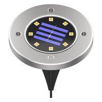 LED Güneş Gömülü Kat Işık Su Geçirmez Paslanmaz Çelik Yeraltı Işıkları Açık Bahçe Yol Yolu Merdiven Toprak Çim Lambası