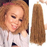 Dreadlocks Schwester locs Häkeln Haarverlängerungen Synthetische Haarwebart Afro 18 Zoll Synthetische Flechtrohrhaar gerade für Frauen Passionsdrehen