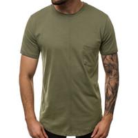 Erkek Tasarımcı Kasetli Tshirts Moda Doğal Renk Cep Tees Casual Kısa Kollu Mürettebat Boyun Tees Erkekler Giyim