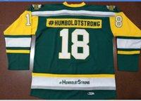 Benutzerdefinierte Männer Jugend Frauen Jahrgang Broncos Humboldt Broncos Humboldtstrong # 18 Hockey-Jersey-Größe S-5XL oder benutzerdefinierten beliebigen Namen oder Nummer