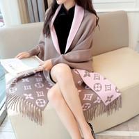 Femmes Femmes Manteau de laine Tassel Cloak 2019 Nouveau printemps manches longues enroulée cardigan élégante vestes tricotées imprimées féminines