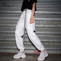 Carga pantalones de estilo Prowow nuevas mujeres ocasionales flojas sólido blanco Calzoncillos damas cómodo Sweatpants ropa de mujer