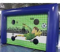 نفخ لكرة القدم لكرة القدم الهدف تبادل لاطلاق النار الهدف