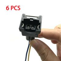 6PCS EV1 Kraftstoffeinspritzdüse-Verbindungsstück-Stecker Clip Pigtail Quick Disconnect