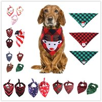 Morethan 30Designs Christmas Pet Scarf Triangle Bibs Dog Ban...