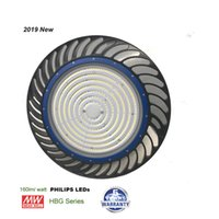160lm / W 2019 NOUVEAU luminaire UFO à haute efficacité d'éclairage, 200W LED UFO High Bay Light, plus de 30000LM 800W MH / HPS équivalent