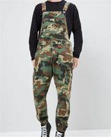 Jumpsuits Tarnung Denim Mens Overalls Mode schlanke Männer lange Hosen-Designer Printed Jeans