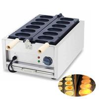 Gratis frakt 110V 220V Kommersiell 6st Electric Taiyaki Waffle Maker Machine Non-Stick Hongkong Egg Snack Making Machine