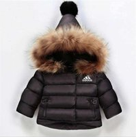 AD 3 Stripes Logo Kids Coat Baby Boys Girls Winter Coat Size...