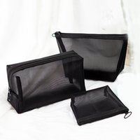 Siyah Şeffaf Kozmetik Çantası Taşınabilir Seyahat Makyaj Durumda Fermuar Makyaj Organizatör Depolama Kılıfı Tuvalet Yıkama Çanta RRA1881